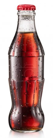 Bottle of cola or botlle of cola soda with water drops.