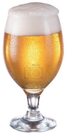 Steamy glass of beer.