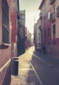 small street in Malaga, Spain