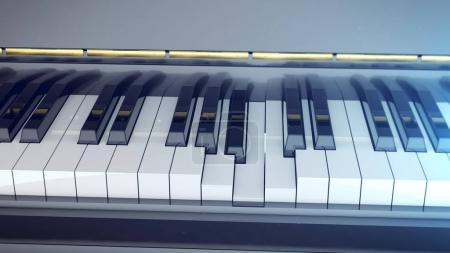 pressed keyboard of grand piano