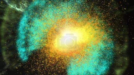 Beautiful bright galaxy