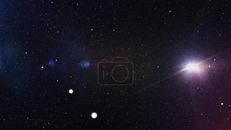 Explosion of star or planet