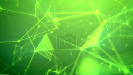 Abstract green cyberspace