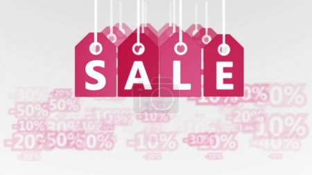 shopping tags with lettering SALE