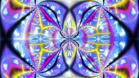 Butterfly Looking Psychedelic Backdrop