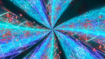 Psychedelic Streams Background Illustration
