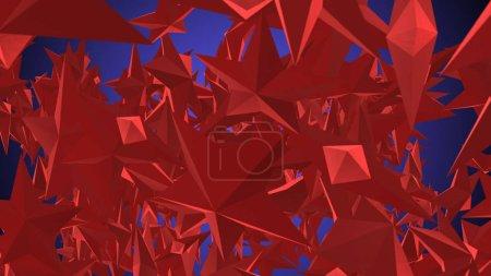Rotating Red Stars Illustration
