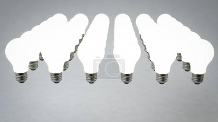 Six Rows of Halogen Light Bulbs