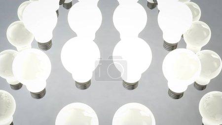 Spheric Placement of Halogen Light Bulbs