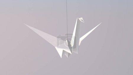 White Paper Crane Flies High