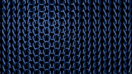 Woven Blue Material Strands