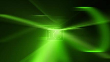 Photo pour Une illustration optez pour l'art 3D d'un fond d'effets visuels droits et incurvés avec des couleurs vert clair brillant et des couleurs de salade. C'est une combinaison d'une séquence en direct et d'un arrière-plan généré par ordinateur . - image libre de droit