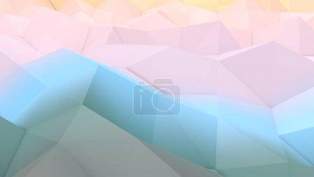 Fondo Lowpoly con superficie azul y rosa
