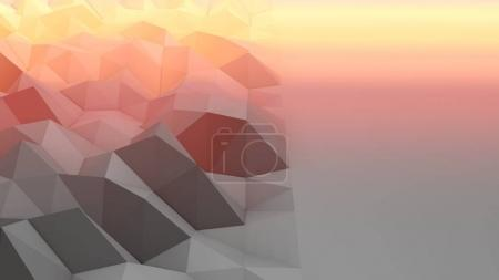 Lowpoly Backdrop with Grey and Peach Area