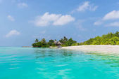 The relaxation on the tropical beach of Maldives