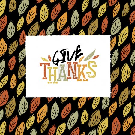 Illustration for Thanksgiving greeting card, vector illustration - Royalty Free Image