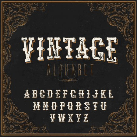 Vintage Western alphabet.