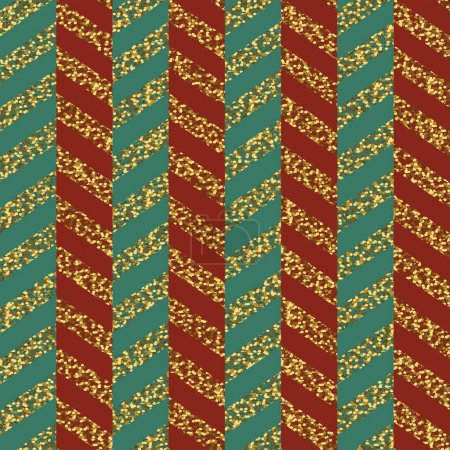 Illustration for Seamless pattern of Christmas ribbons, vector illustration - Royalty Free Image