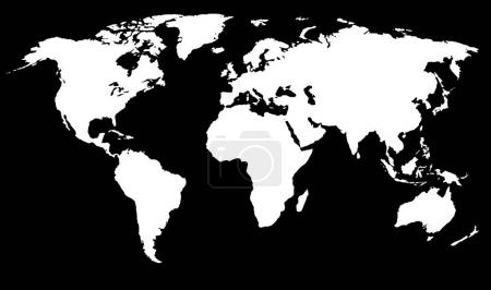 Simplified World Map