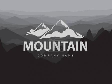Mountains logo template