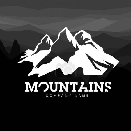Mountain line icon
