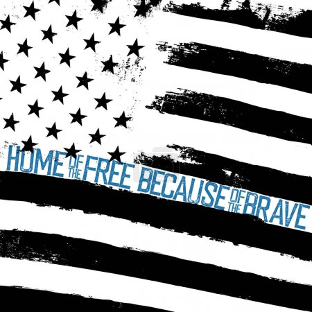 typography quote on American Flag