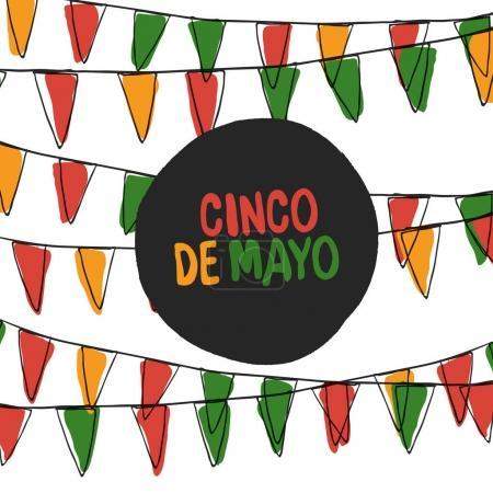 Ilustración de Ilustración de vector de cinco de Mayo. 5 de puede vacaciones vector. Fondo de vacaciones de cinco de Mayo - Imagen libre de derechos