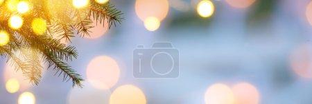 Christmas Holidays background with Xmas tree light