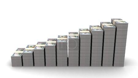 Dollar rising stairs