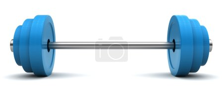 Photo for 3d illustration of barbell over white background - Royalty Free Image