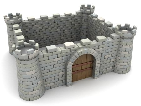 fortress walls model