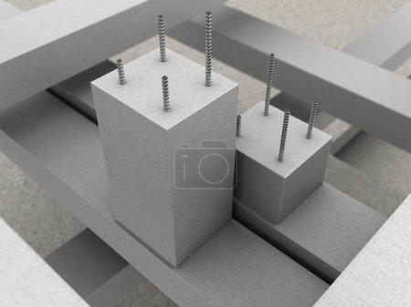 reinforced concrete blocks