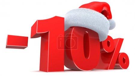 Christmas sale 10 percent sign