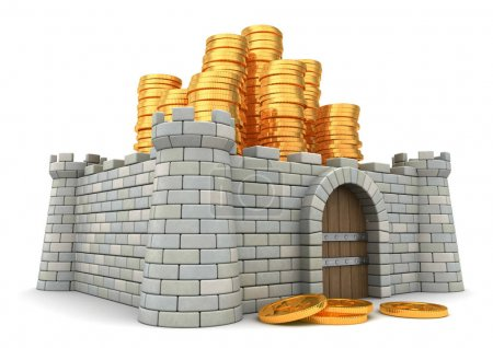 fortress full of golden coins