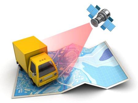 Cargo satellite tracking concept