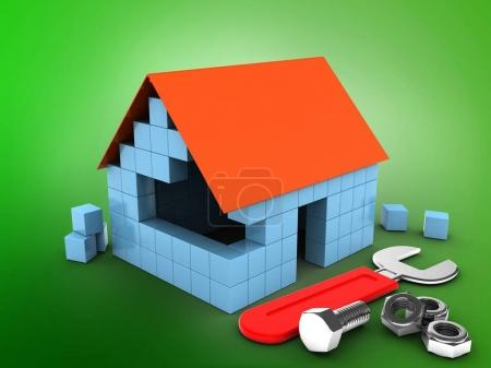 block house with wrench