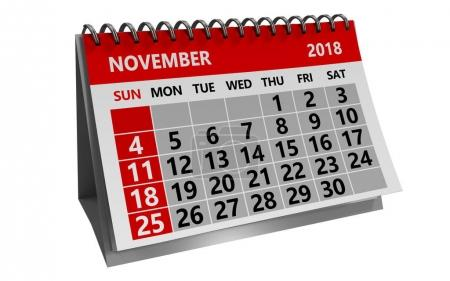 calendar isolated over white background