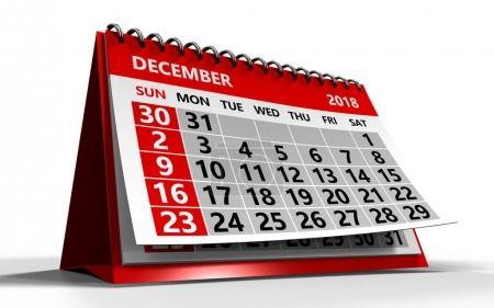 calendar over white background