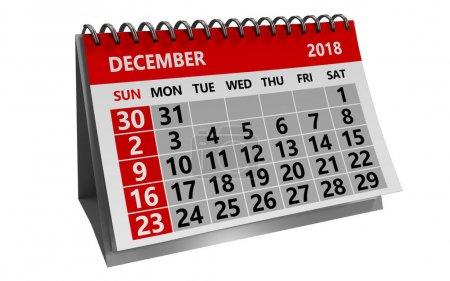 decemeber 2018 calendar