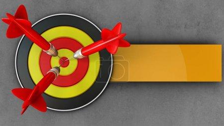 round target with three darts