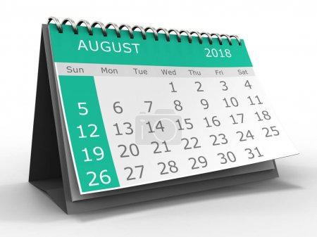 illustration of calendar over white background