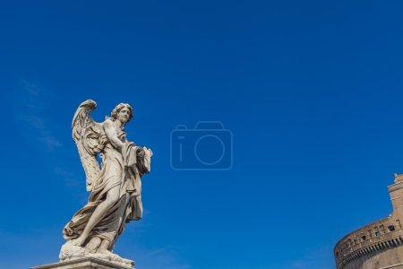 Sculpture on Sant Angelo Bridge in Rome