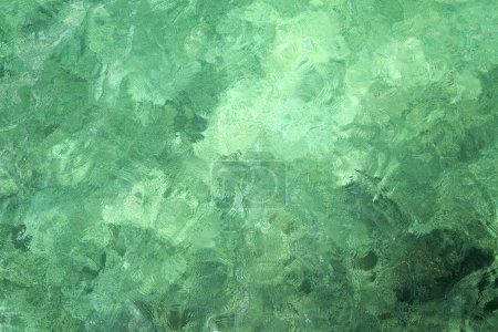 Green water surface