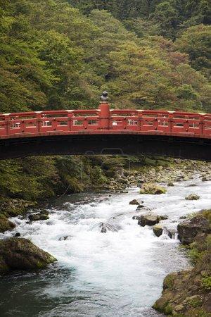 Shinkyo wooden bridge at Futarasan shrine