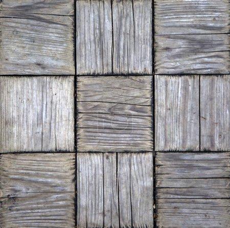 Photo pour Vue rapprochée à la texture carrée en bois - image libre de droit