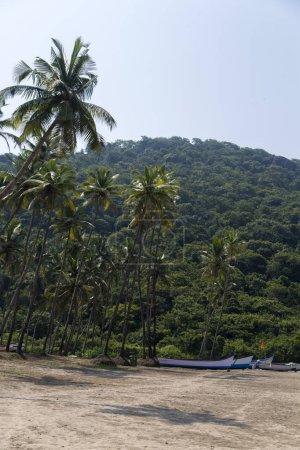 Boats at Anjuna beach