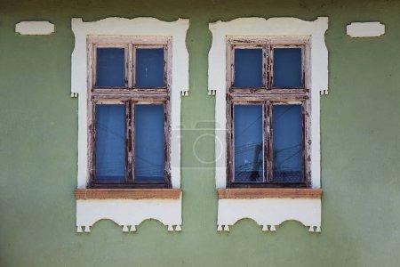 Facade with old windows