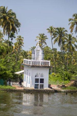Unindetified people at backwaters in Kerala