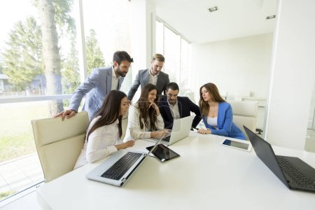 Young successful managers in offce