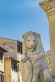 Lion statue in Florence